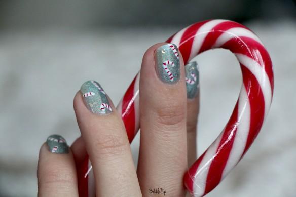 candy cane nail art 2