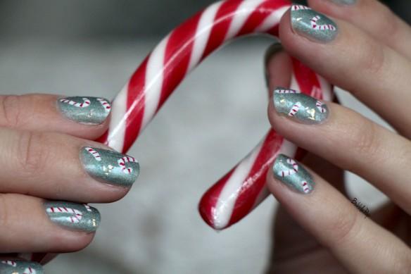 candy cane nail art 5