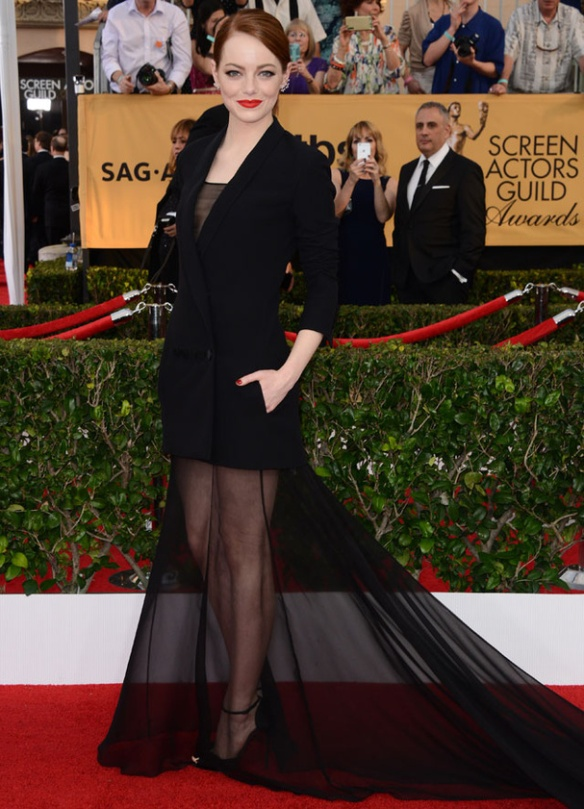 Dior couture SAG AWARDS emma stone