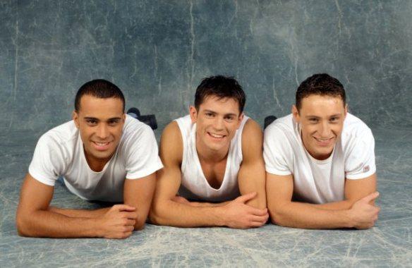 """21149 Morgane/Starface 1996-11-01   France  2be3 en rendez-vous. Adel, Filip, Frank.   Nikolic, Filip (""""2B3"""")."""