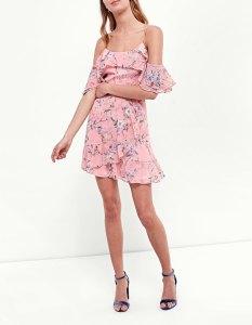 robe rose fleurs