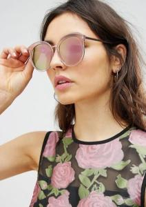 lunette rose miroir